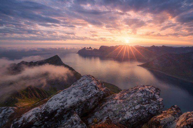 норвегия, сенья, norway, senja island, husfjellet Утро на острове Сенья. Норвегияphoto preview
