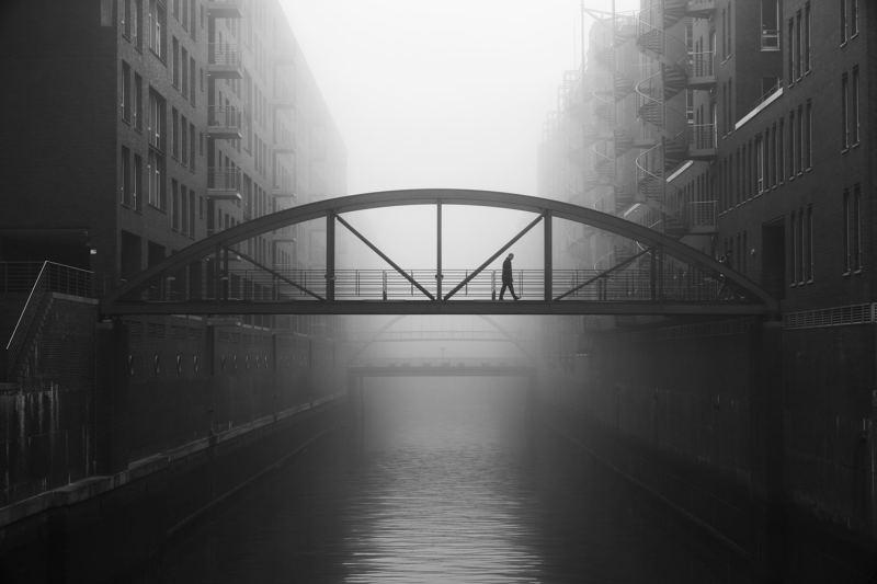 bridge, fog, fleet, water, people, street, urban Kehrwiederspitzephoto preview