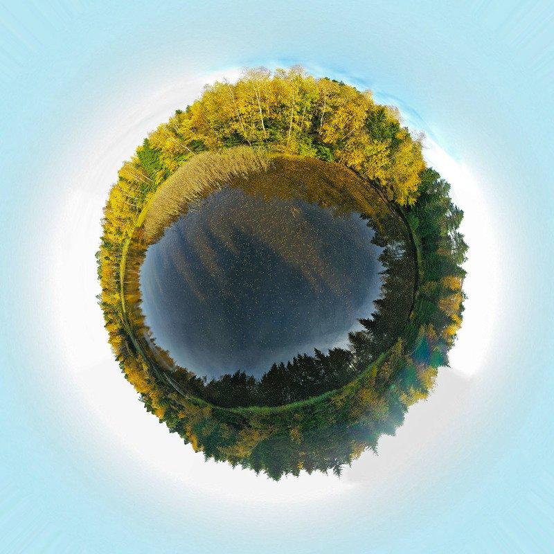 Московская область, Мытищинский район, лес, озеро, коптер, aerial Сегодня за городомphoto preview
