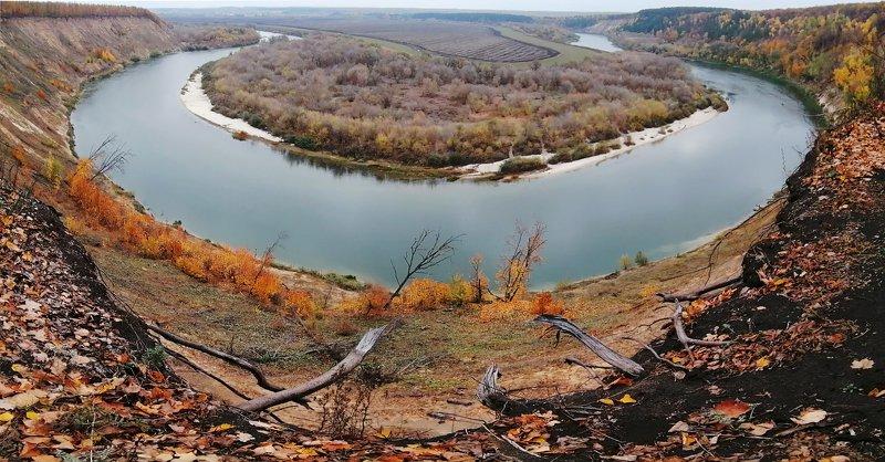 панорама воронеж кривоборье вода осень Кривоборьеphoto preview