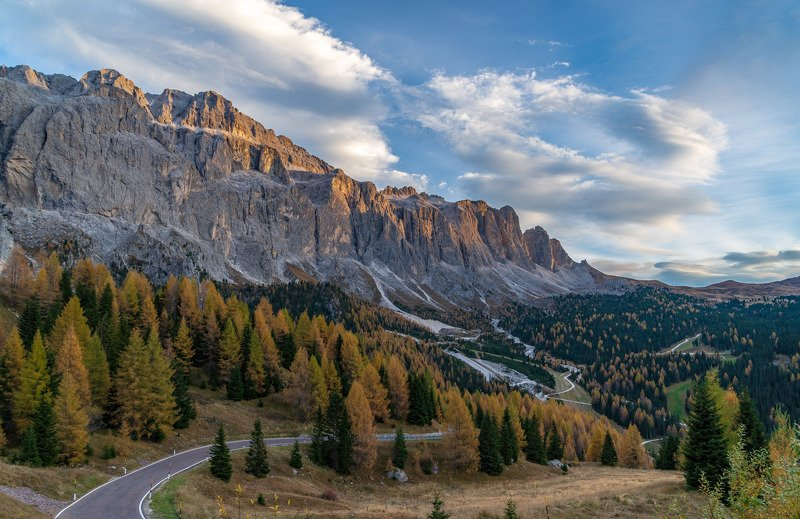 доломиты, осень, горы, альпы, dolomites На пути к перевалуphoto preview