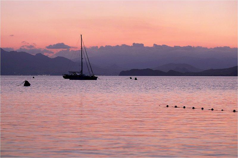 крым, чёрное море, осень, сентябрь, закат, заход солнца, яхты, photo preview