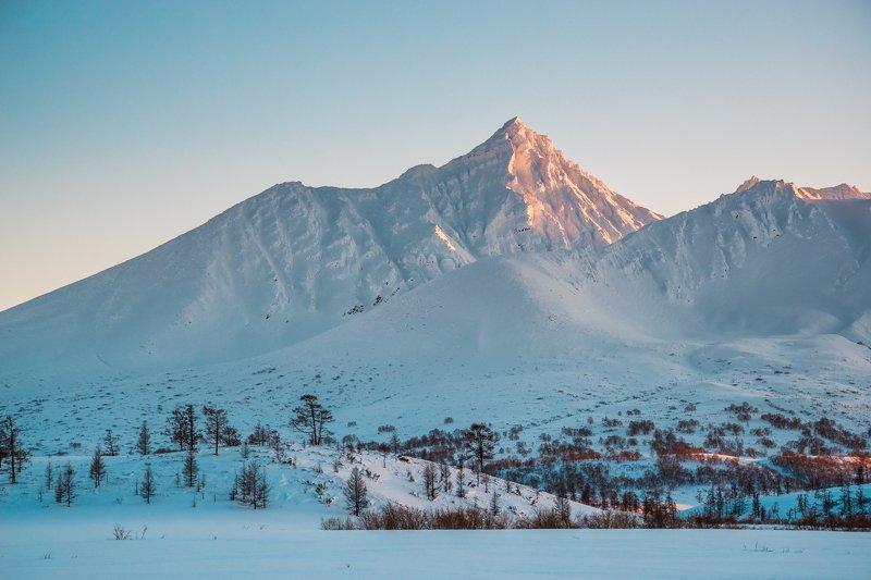 камчатка, сторож, зима, горы, закат Горный закатphoto preview