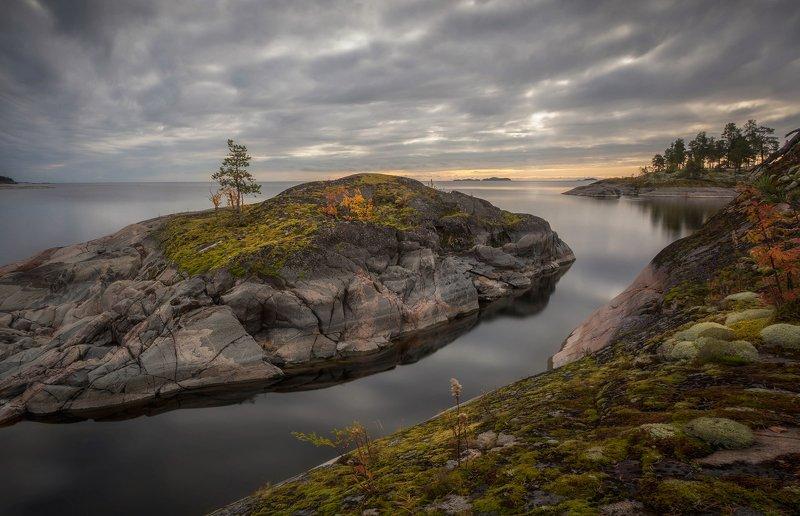 ладога, осень, шхеры, рассвет ,карелия Ладожская гаваньphoto preview