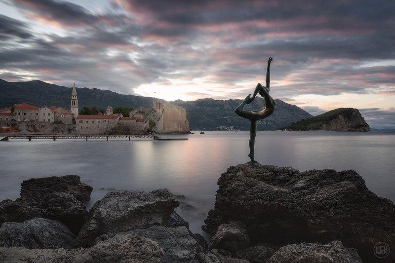 черногория, будва, рассвет, море Рассветная красота Будвыphoto preview