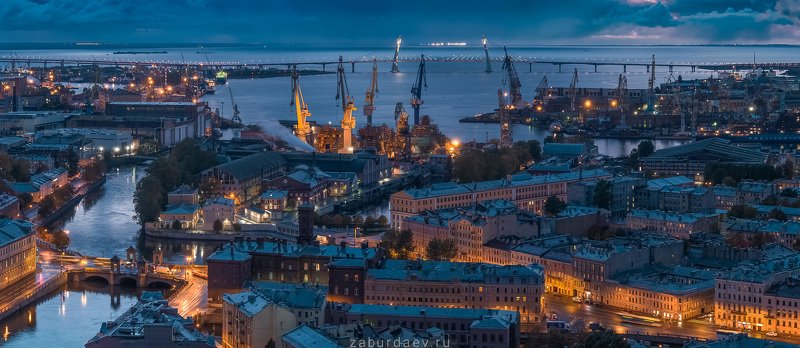 россия, петербург, осень, вечер, закат Морской городphoto preview