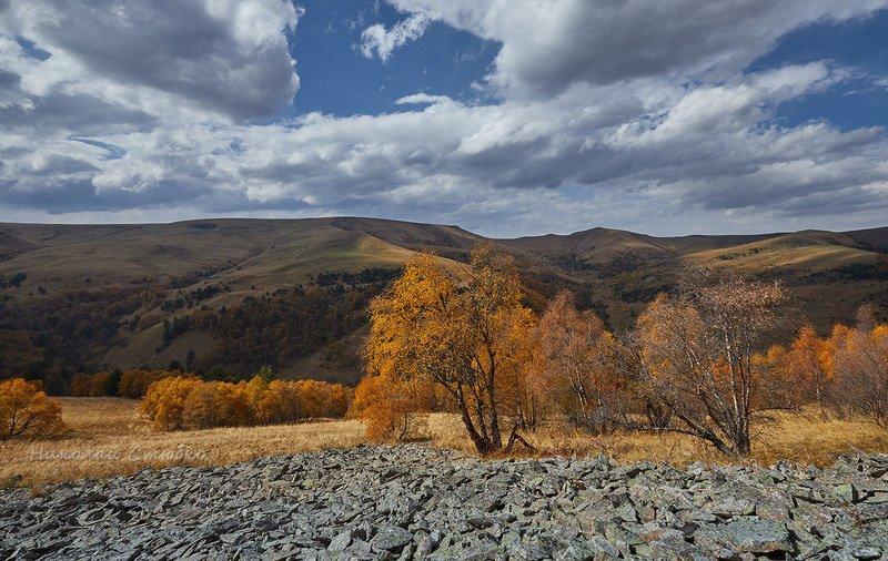 кавказ горы осень плато облака Осенние этюды. №1photo preview