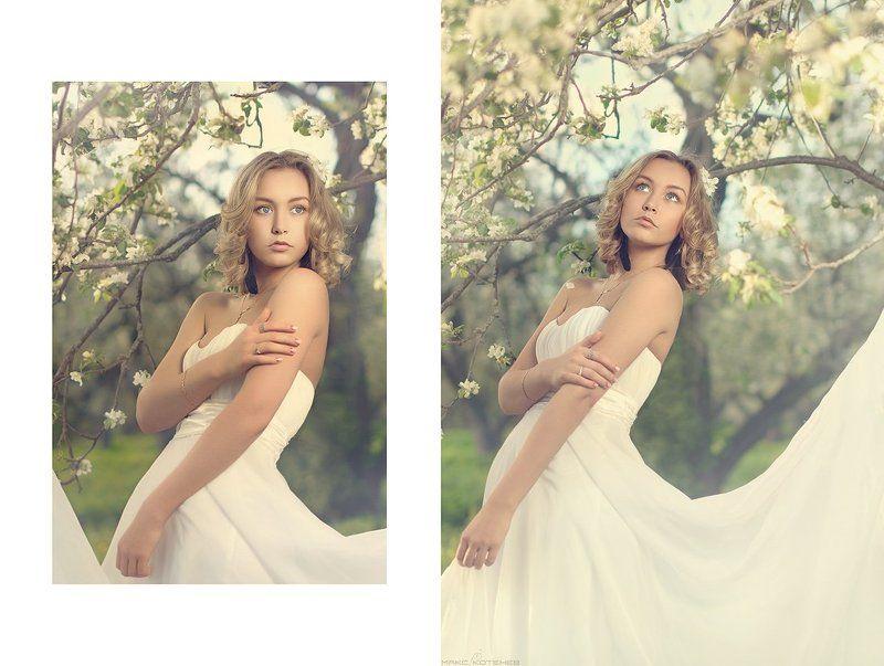 девушка, цветы, сад, весна ***photo preview