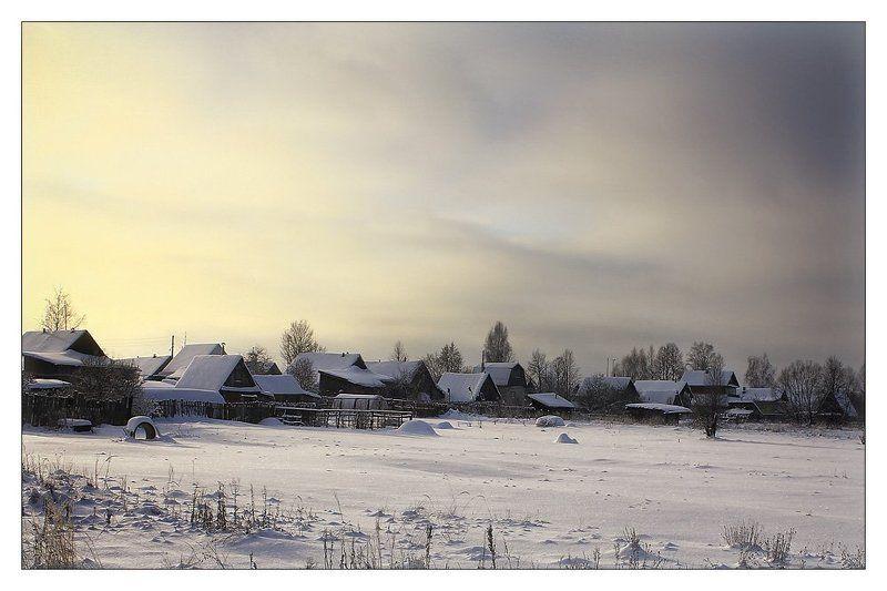 меленки, деревня, природа, пейзаж Зимняя деревняphoto preview