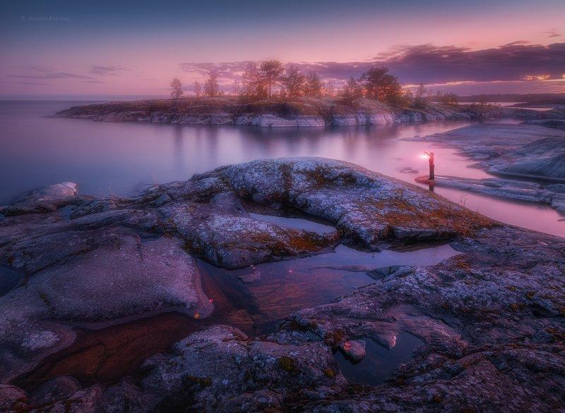 ладога, ночь, пейзаж, закат Уютный вечер на Ладоге...photo preview