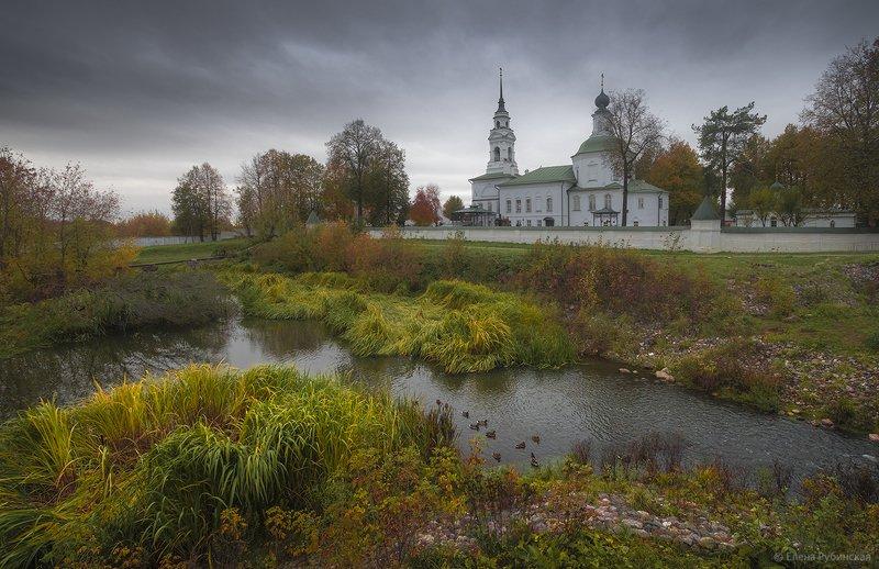 кострома,город,архитектура,река,церковь,пейзаж Кострома.Октябрьphoto preview