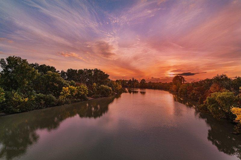 кубань, октябрь, кубанский берег, таманский полуостров, темрюк Про любимый вид с моста...photo preview