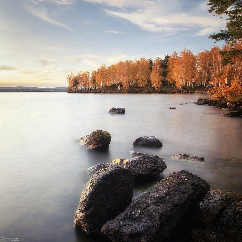 Золотая осень на озере Таватуйphoto preview
