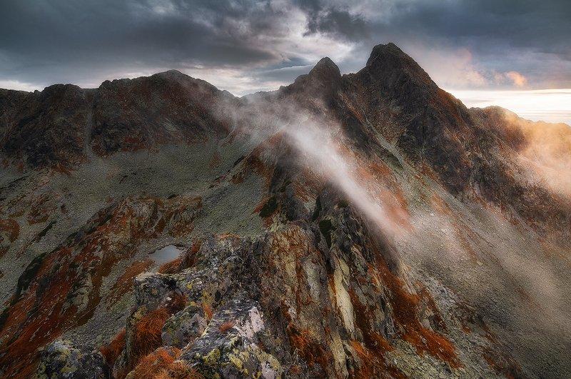 retezat, romania, sunset, nationalpark, mountain, landscape Rust Mountainphoto preview