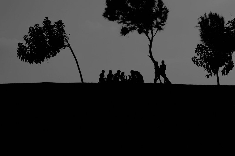 silhouet black and white people silhouettes ...#120photo preview