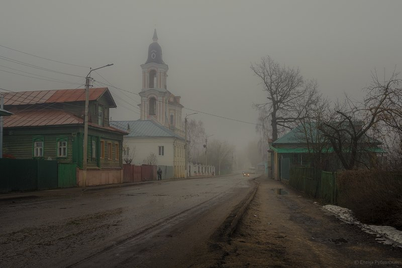город,улица,архитектура,река,церковь,туман Нерехта .Апрельphoto preview