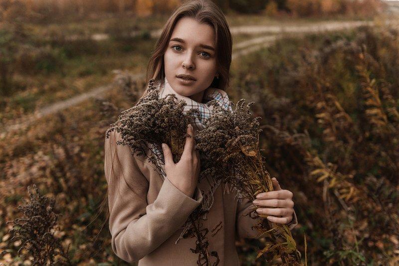 осень, портрет, тонировка Одиночествоphoto preview