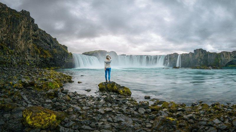 исландия, водопад, годафосс, iceland, waterfall, foss, godafoss У водопадаphoto preview