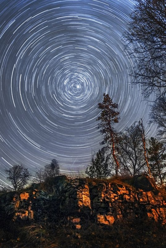 star, trek, landscape, треки, звездные треки, Башкирия, Ура, Сумган-Кутук Star tracksphoto preview