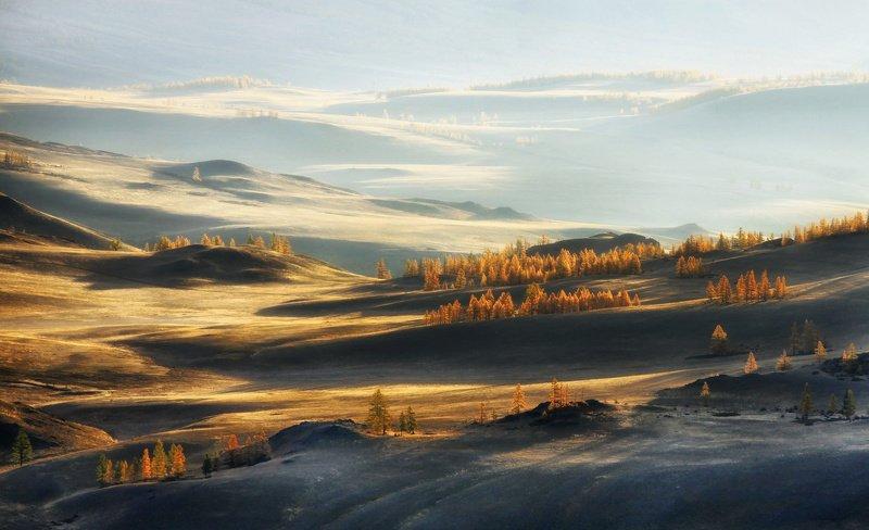 алтай, горный алтай, горы, сибирь, курай Курайский рассветphoto preview