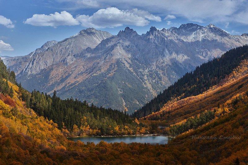 кавказ горы осень озеро лес Осенние этюды. №3photo preview