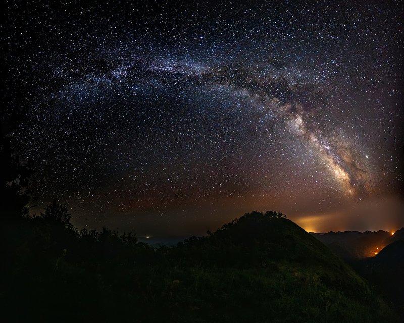 Пеус, Большое Псеушко, пейзаж, Туапсе Под куполом небаphoto preview