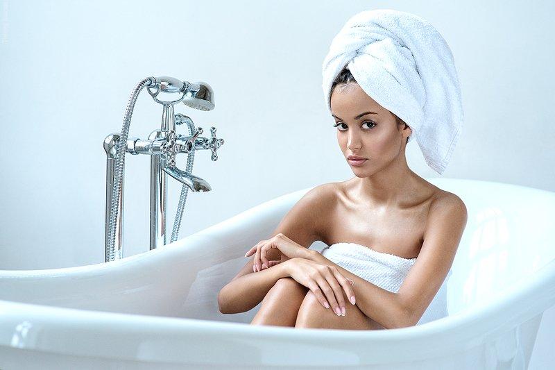 девушка, портрет, ванная, белье, полотенце, халат Leraphoto preview