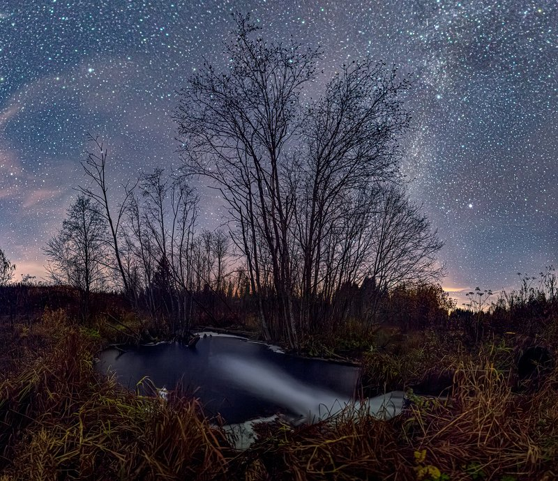 звезды, млечный путь, ночь, астрофото, река р. Талаяphoto preview