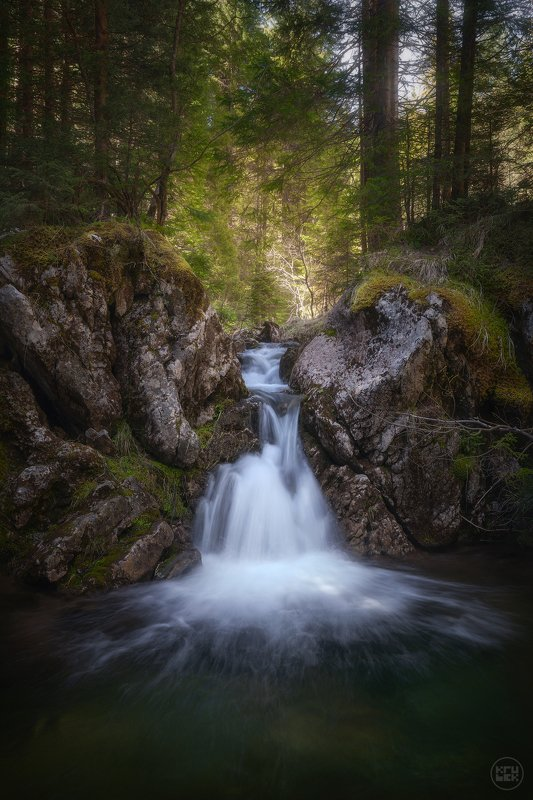черногория, водопад, природа Водопад у Черного Озераphoto preview