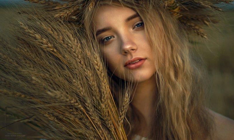 девушка, сказка, лето, волшебство, фото, арт, портрет , поле, пшеница, колос photo preview