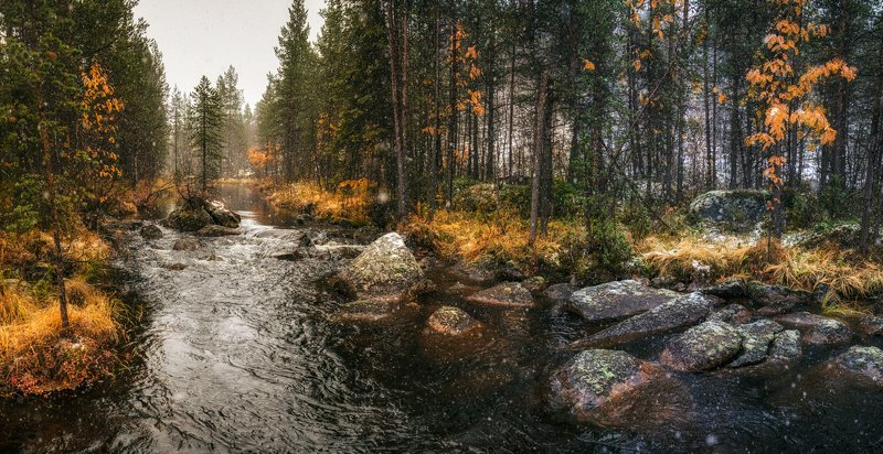 сНежная осень ...photo preview
