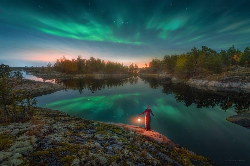 ладога, ночь, пейзаж, сияние Сентябрьские сияния Ладоги...photo preview