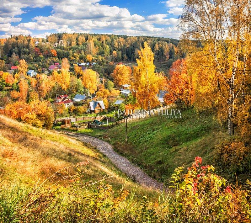 плес, осень, гора левитана Домики Плёсаphoto preview