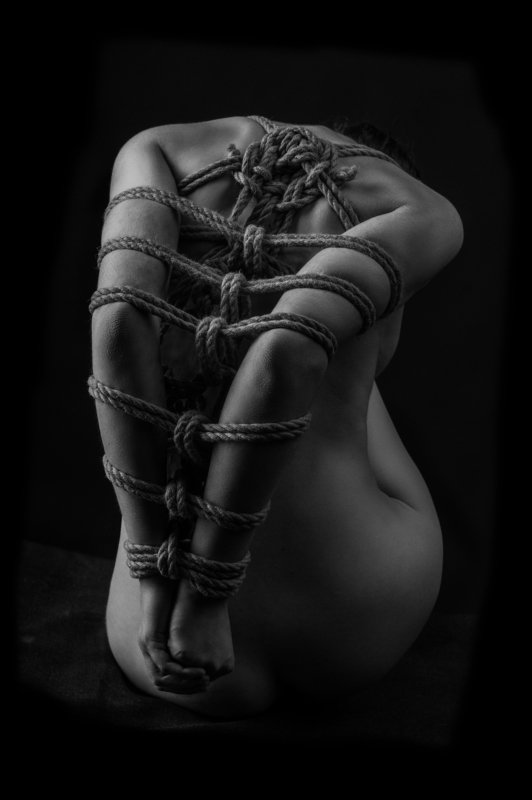 fine art nude, naked, girl, body, rope, shibari Shibariphoto preview