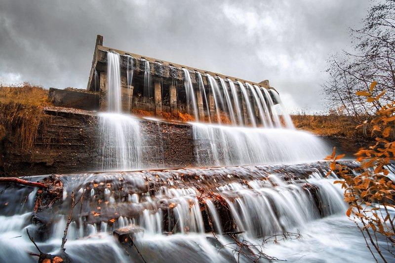 Водопад, Удмуртский водопад, водопад в Каменное, Удмуртия Суровые Удмуртские Водопадыphoto preview