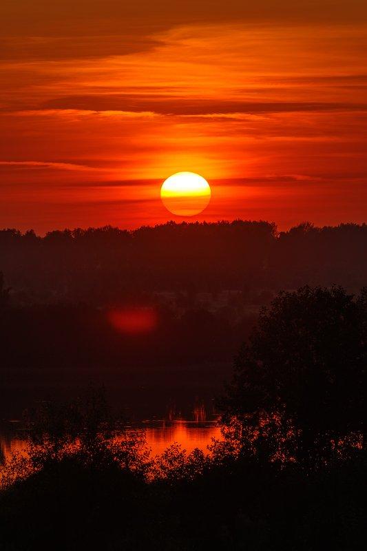 пейзаж, hdr Выткался на озере алый свет зари...photo preview