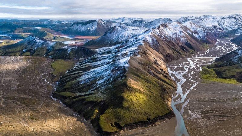 landmannalaugar,iceland,горы,aэрофотосъёмка Kак то встретились зима и осеньphoto preview