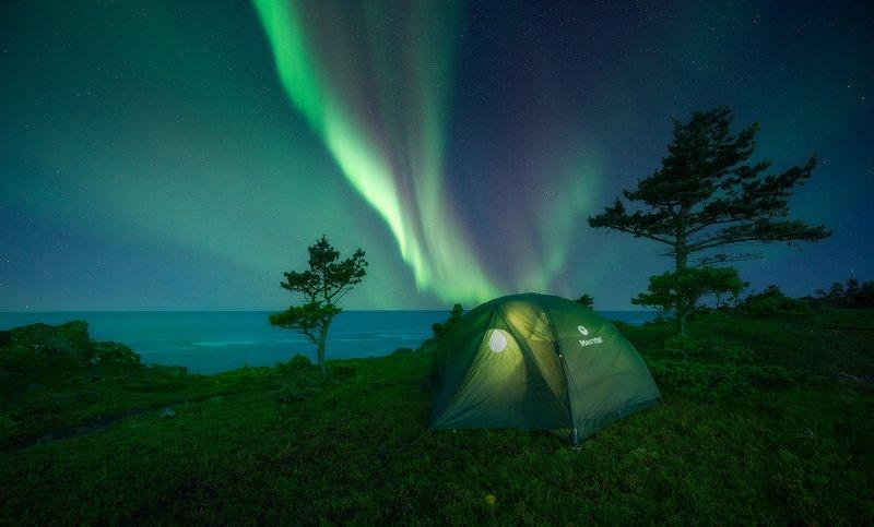aurora borealis, северное сияние, белое  море, white sea Aurora Borealisphoto preview