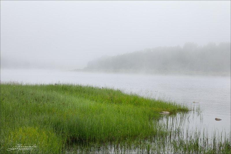забайкальский, край р. Менза. Утренний туманphoto preview