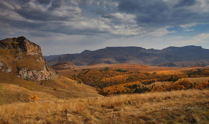 кавказ горы бермамыт плато облака осень Бермамытphoto preview