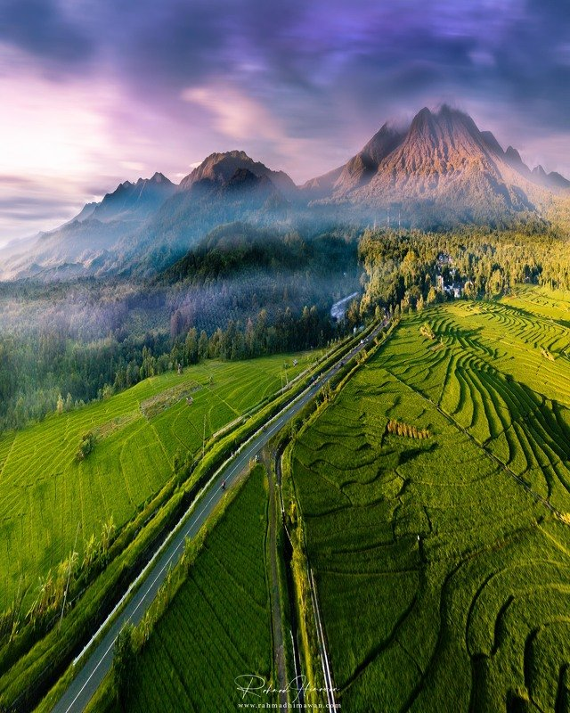 aerial, agriculture, asia, asian, background, beach, beautiful, brabant, breathtaking, cloud, cloudy, destination, environment, famous, fantastic, farm, field, food, green, hill, island, lagoon, landscape, morne, mountain, natural, nature, outdoor, panora natural beauty of the beautiful mountains with green rice fields, protected forests and small rivers in north bengkulu, indonesiaphoto preview