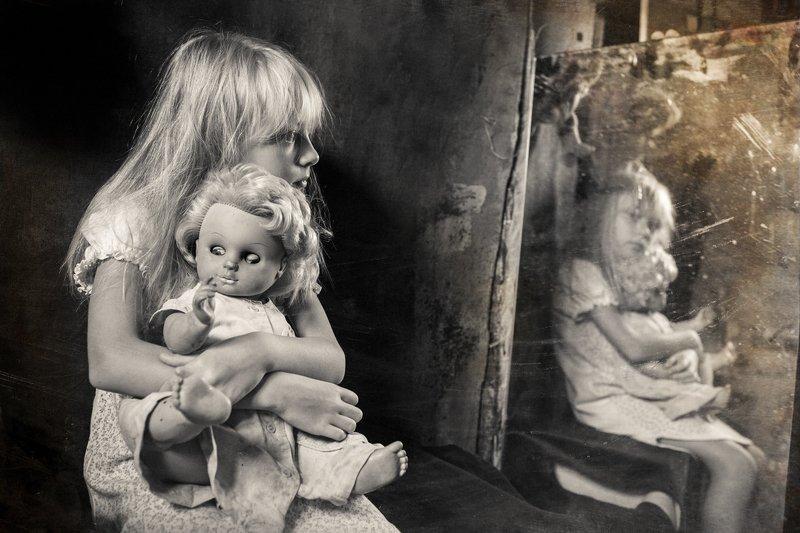 портрет, черное и белое, чбпортрет, фешнпортрет, фешн, студийный портрет, дети и куклы 4photo preview