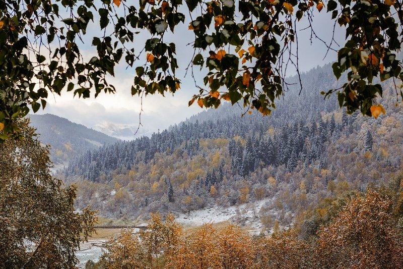 Первый снег в Архызеphoto preview