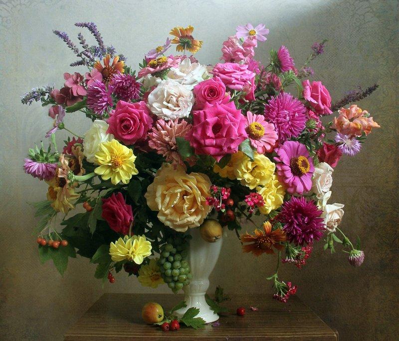 осень,  цветы, натюрморт, марина филатова ***photo preview