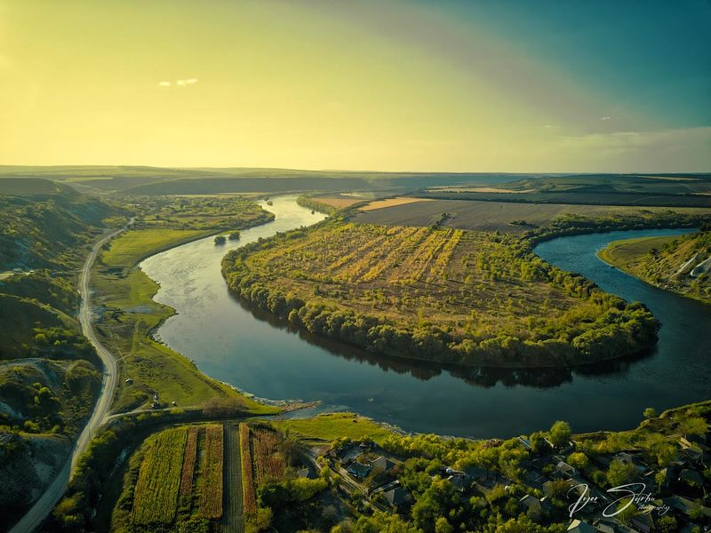 River Dniester at sunsetphoto preview