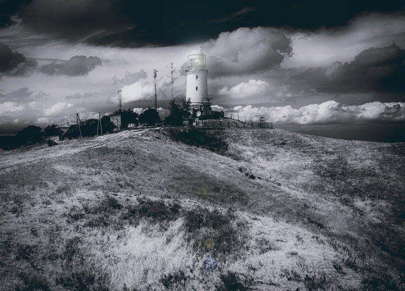 пейзаж, маяк, холмы, мыс, керчь, крым, россия PRO МАЯК.photo preview