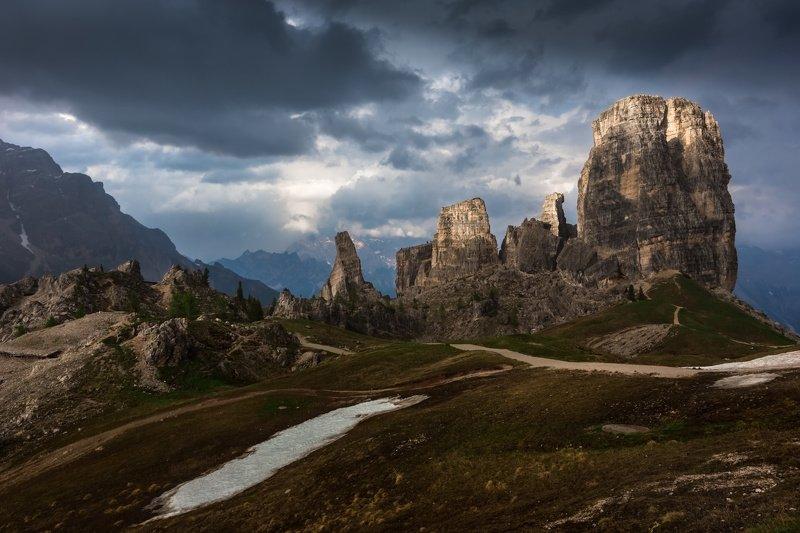италия, доломиты, горы, облака, закат, природа, пять башен, landscape, italy, dolomites После грозы.photo preview