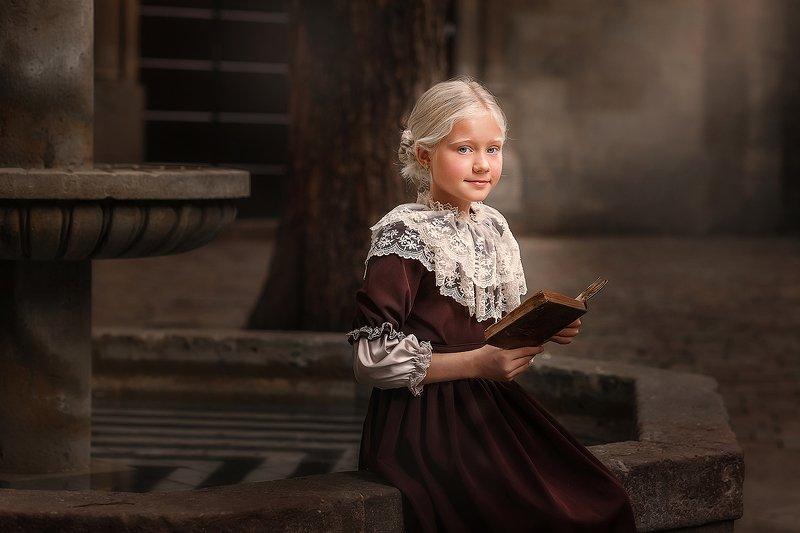 девочка, ретро, винтаж Джейн Эйрphoto preview