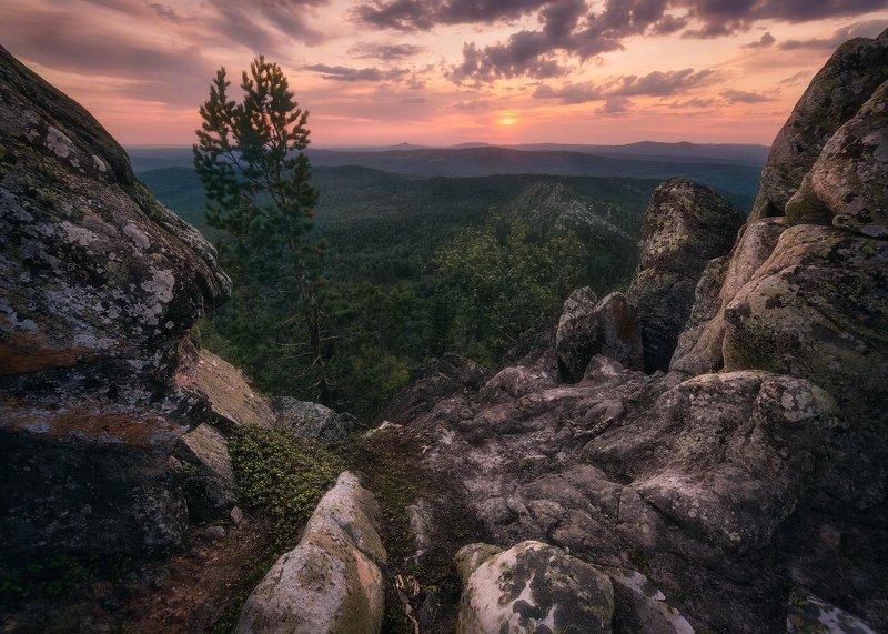 закат, горы, башкирия, южный урал Закат на Южном Уралеphoto preview