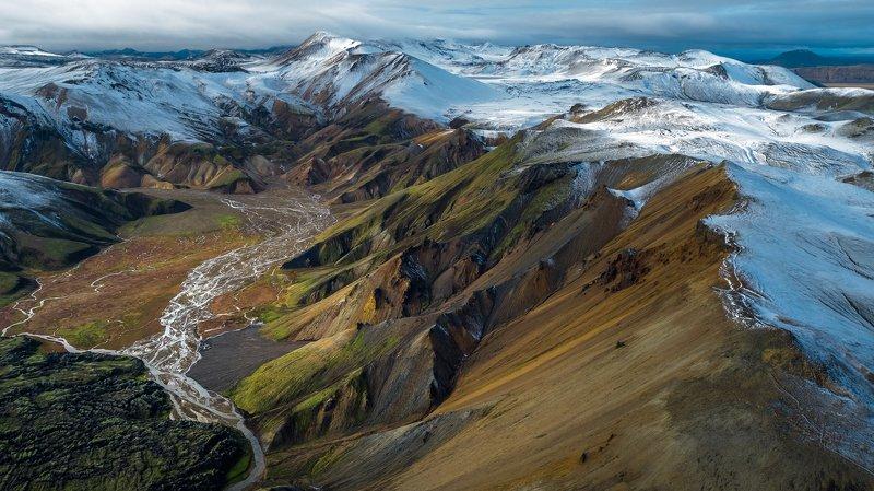 landmannalaugar,iceland,горы,рассвет,аэрофотосъёмка,пейзаж ...Landmannalaugar...photo preview